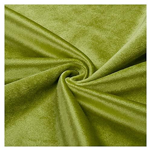 ZSYGFS 280 Cm De Ancho Tela De Terciopelo por Metros para Tapizar Disfraz Decoracin del Hogar Cortinas Tapicera Vestido Sillas Vendido por Metro(Color:Cebollas Verdes Verdes)