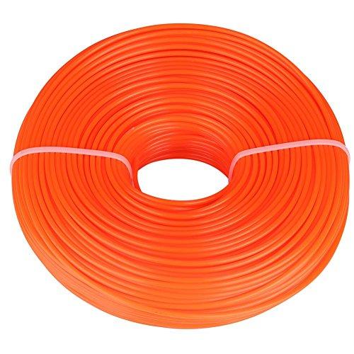 Zerodis 3mm Trimmerfaden Trimmerschnur Nylon Gatren Rasenmäher Motorsense Zubehör Ersatzfaden Runde String(120M)