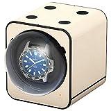 Boxy Fancy Brick Uhrenbeweger - Farbe Creme - Lederoptik