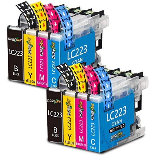 DOREINK LC223XL Druckerpatronen Ersatz für Brother LC223 Patronen Kompatibel mit Brother DCP-J562DW J4120DW MFC-J5320DW J880DW J5620DW J5625DW J680DW J4625DW J5720DW J4420DW J480DW J4620DW