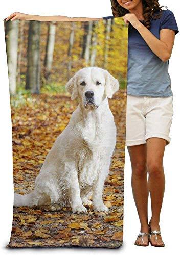 Ahdyr Toallas de Playa Grandes Sábanas de baño Golden Retriever Perro Cachorro Toallas de Playa Lujoso, Suave y ecológico Diseño de impresión Piscina Playa, No tóxico 80x130cm