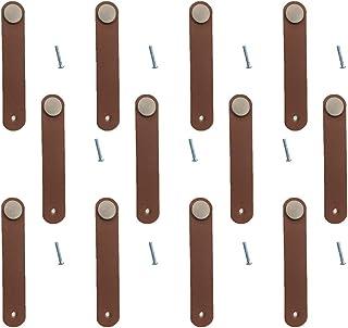 DOITOOL Manopole per cassetti in Pelle Vintage 2 Pezzi Maniglia per Armadio Maniglia per Armadio per la casa