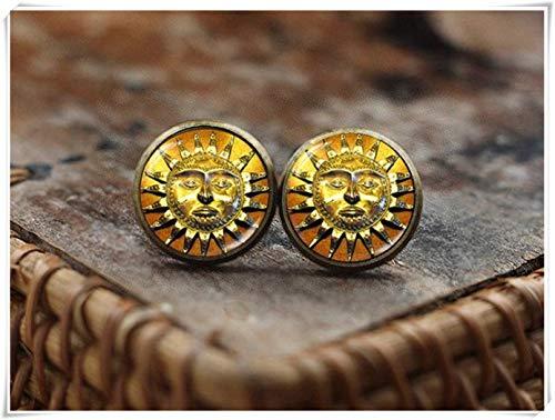 Sonne Gesicht Ohrstecker Antik Stil Sonne Mittelalter Ohrringe Ethno Sonne Boho Sonne Ohrringe Vintage Sonnenglas Ohrringe