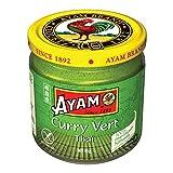 SAVEURS AUTHENTIQUES D'ASIE - Toutes les saveurs de l'authentique curry vert thaïlandais à la maison grâce à notre pâte de curry vert AYAM. Elle est une combinaison unique et épicée d'herbes, de citronnelle et de piments verts frais, ce qui la rend p...