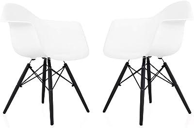 Amazon.com: BTEXPERT - Silla sin brazos modelo Eiffel Eames ...