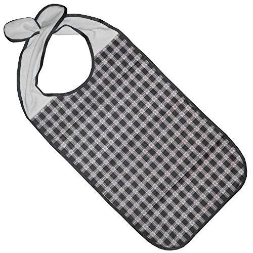 Kleidungsschutz/Ess-Schürze/Lätzchen für Erwachsene mit Steckverschluss, wasserdicht (anthrazit)