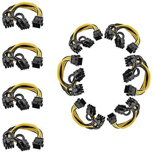 Andifany 10 Piezas 6 Pines a Doble PCIe 8 Pines (6 +...