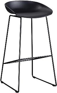 JHBW-bar stool Metal Iron Bar Chair, Sitting 75cm (30 Inches) High, PP Black (White) High Stool, Handmade Creative Chair, for Bars, Restaurants, Cafes, Home