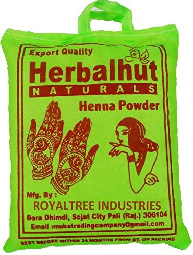 Herbalhut Naturals Henna Leaves Powder/Mehandi for Hair and Hand (Rajasthani henna) (1 KG)