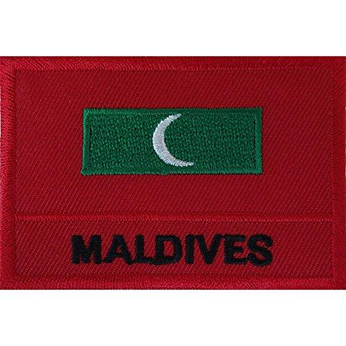 Malediven-Flagge, zum Aufbügeln oder Aufnähen, für Kleidung, Tasche, Dhivehi Malé, besticktes Abzeichen