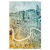artboxONE Poster 30x20 cm Städte New Orleans City Map -
