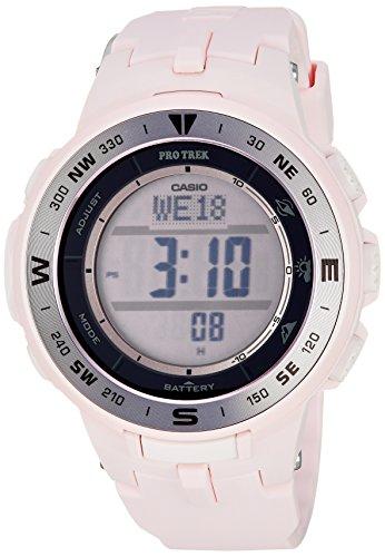 Casio Women's Pro Trek Quartz Watch with Resin Strap, Pink, 22.5 (Model: PRG-330-4CR)