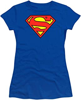 Superman Logo S Shield Junior's Teen Girls T Shirt & Stickers