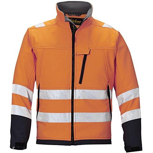 Snickers 12135558008 Veste Soft Shell haute visibilité Classe 3 Taille XXL orange