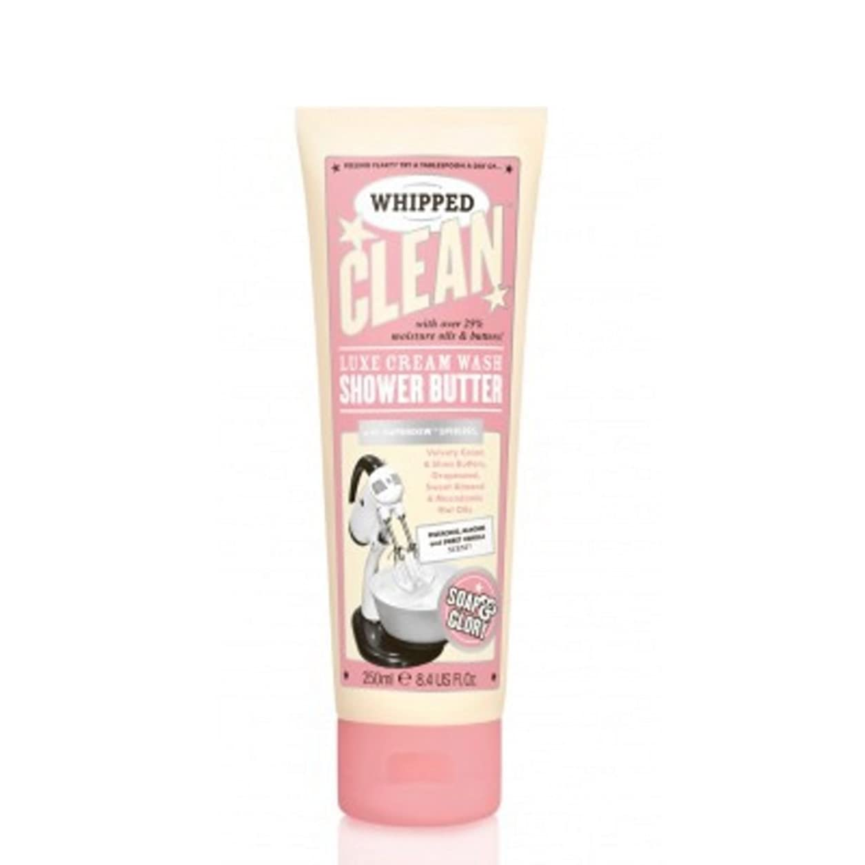 正気ユーザー原理Soap And Glory Whipped Clean Shower Butter Shower Gel & Moisturiser in One 250ml