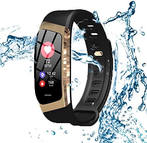 Tracker Fitness Rastreador de ejercicios, multi-función de Control de las pulsaciones, inteligente insertar información podómetro, impermeable Data Monitor relojes, for hombres y mujeres Rastreador de