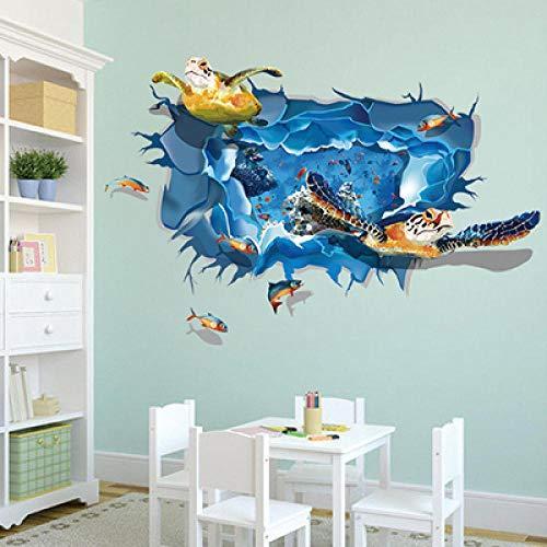 Onderzee Wereld Schildpadden 3D Muurstickers Aquarium Museum Poster Muursticker Woonkamer Kinderen Kamer Behang