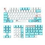 Japanese Anime Totoro Design Keycaps for Cherry Mx Switch Mechanical Gaming Keyboard Modify OEM Profile 130 Keys PBT Key Caps