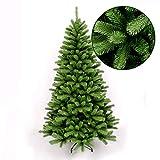 Wohaga Abeto Artificial Deluxe árbol de Navidad Incluido Soporte de árbol plástico/Metal Verde, Tamaño:180cm