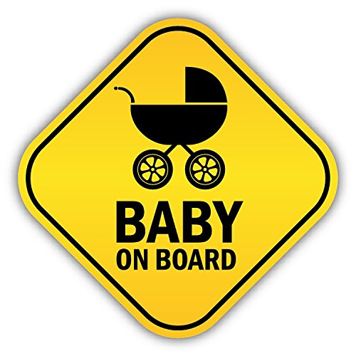 Baby On Board Pram Funny Warning Sign De Haute Qualite Pare-Chocs Automobiles Autocollant 12 x 12 cm