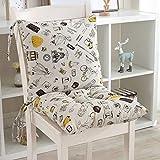 BSESTELLE Stuhlkissen-Set Sitzkissen und Kissen aus Leinen mit Trägern for das Büro zu Hause, 17,7...