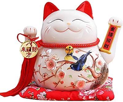 Amazon.com: HY - Hucha (cerámica, 4.5 in), diseño de gato ...