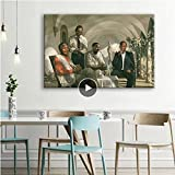 GZCJHP Cuadro sobre lienzo 50 x 70 cm sin marco Pioneer Mandela-Malcolm X-Obama-Martin Luther King MLK Póster impresión rara arte arte de pared para decoración interior