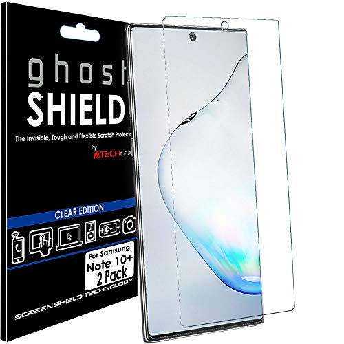 TECHGEAR [Pack van 2 Screen Protectors fit Samsung Galaxy Note 10 Plus [ghostSHIELD Edition] Versterkte TPU film Screen Protector Guard Covers [FULL Screen Coverage] Gebogen scherm gebied