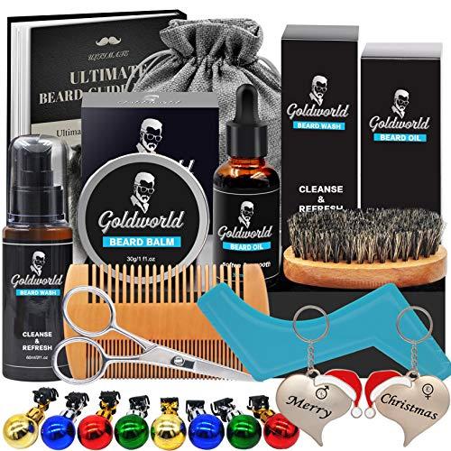 Kit Set Cuidado Barba con Libre Champu Barba,Peine Barba,Cepillo Barba