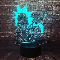 giyiohok3DイリュージョンランプLEDナイトライト寝室用漫画リロと視覚ステッチ7色タッチリモートスイッチ装飾変更キッズおもちゃギフト-n30-n21