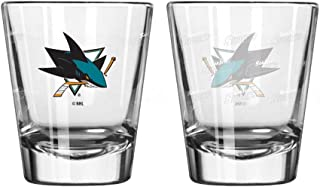 San Jose Sharks Shot Glass - 2 Pack Satin Etch