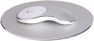 Wireless Mouse,Attoe 2.4G Noiseless AluminiumAlloy Optical Mice with Nano USB Receiver DPI 1600 for PC and Mac (Silver White)
