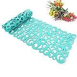 Camino de mesa, la flor hueco Tischband Mantel almohadilla de fondos de pantalla Coaster Decorar su habitación lavables, 100 x30cm (verde claro)