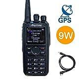 AnyTone AT-D878S GPS 9-Watt Single Band UHF 400-480MHz DMR and Analog Two-Way Radio, Free Programming Cable, 3100mAh Battery