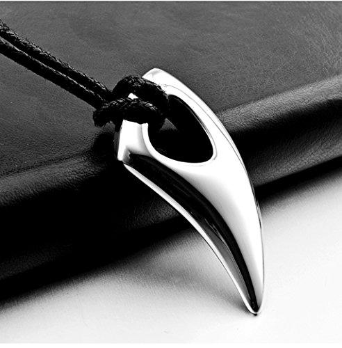 Hopewey collane da Uomo in Acciaio Inossidabile Collana (Argento)