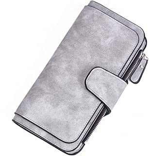GUMAOPAJIAAAqb Monederos de Mujer, Leather Women Wallets Coin Pocket Hasp Card Holder Money Bags Casual Long Ladies Clutch...
