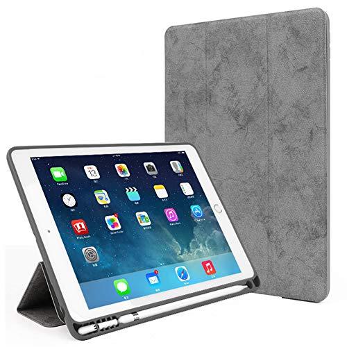 Funda Fit iPad Air 3 2019 (3.A Generación 10.5 Pulgadas) / iPad Pro 10.5 2017 - Slim Slimweight Smart Shell Stand Cover con Portalápices - Contraportada De TPU Suave Y Ligera,Gris