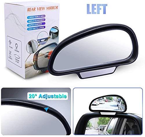 Espejo Angulo Muerto Coche,HD Ajustables Blind Spot Espejo Retrovisor Coche Canvex Espejo Retrovisor Auxiliar para Todo Tipo de Vehículos,Lzquierda