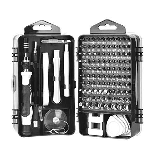 115 in 1 Flexible Precision Torx Screw Driver Set Repair Phone Laptop Tools Kit, Home & Garden, for New Year (Black)