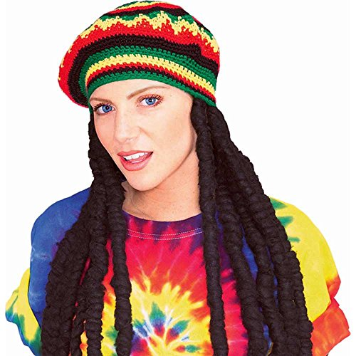 Morris Costumes Adult rastafarian Wig (perruque)