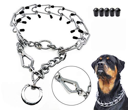 Mayerzon Dog Prong Training Collar, Stainless Steel Choke Pinch Dog Collar with Comfort Tips (Fish-Hook Collar)