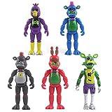 \t Five Nights at Freddy'S Pack de 5 Figuras Set Figuras de Acción Superestrella Freddy Lefty Bonnie Foxy Chica Muñeca de Juguete Animales y Figuras Colección Decoraciones Regalo 5PCS-14cm