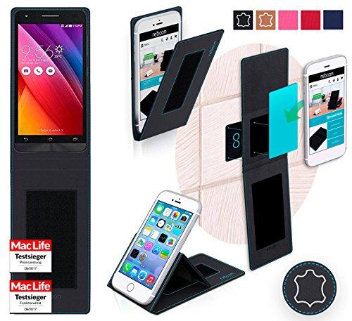 Hülle für Asus Zenfone Go 5.0 LTE Tasche Cover Case Bumper | Schwarz Leder | Testsieger