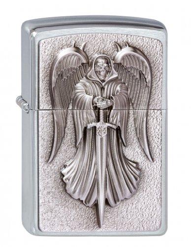 Zippo Zippo Feuerzeug 2002999 Death Angel Emblem Benzinfeuerzeug, Messing Silber