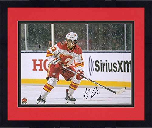 Calgary Flames NHL Framed 8x10 Photograph Team Logo and Hockey Puck