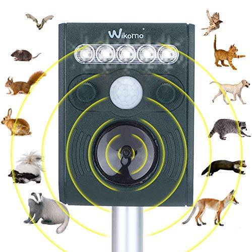 Ultrasonic Animal Repeller Outdoor Solar Powered Waterproof Motion Sensor for Plants Bird Cats Dogs Bat Mouse Squirrels Racoon Groundhog Skunk in Garden