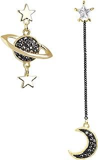 Planet Moon Star Asymmetrical Dangle Earrings Women Fashion Drop Earrings