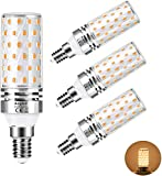 Aogled Bombilla LED E14 12W 3000K,E14 LED Calido Equivalente Lámpara Halógena De 100W,Blanco Cálido,1200LM,Ángulo 360,Bombilla LED E14 luz calida,No Regulable,Sin Parpadeo,AC100-240V,4 Unidades
