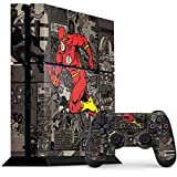 Skinit Decal Gaming Skin Compatible with PS4 Console and Controller Bundle - Officially Licensed Warner Bros Flash Mixed Media Design