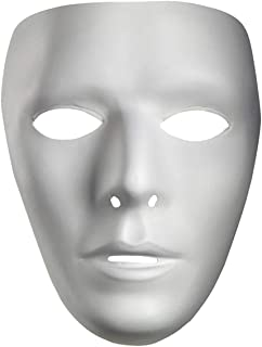 Halloween Mask Thick Blank Male The Phantom Mask Costume White Face Mask Paintable